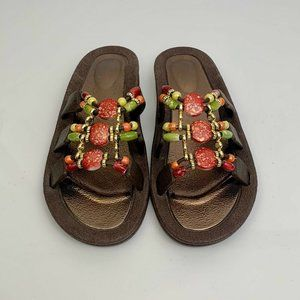 New Unbranded Beaded Sandals Size 8